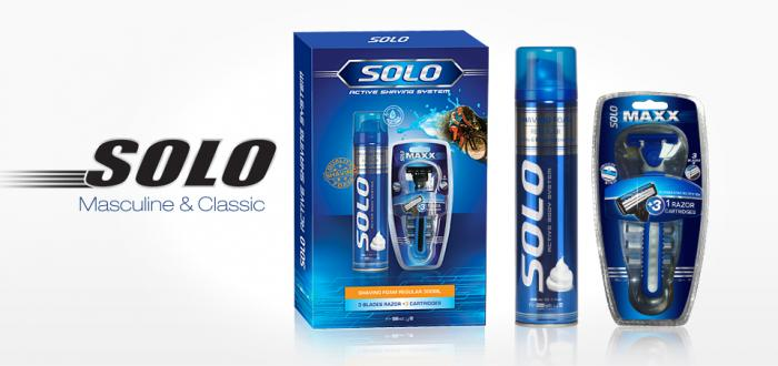 Solo Gift set Shaving foam 300ml & System Razor