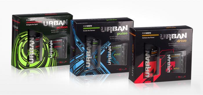 Set de regalo Urban Desodorante para el cuerpo 150 ml & Despues del Afeitado 100 ml