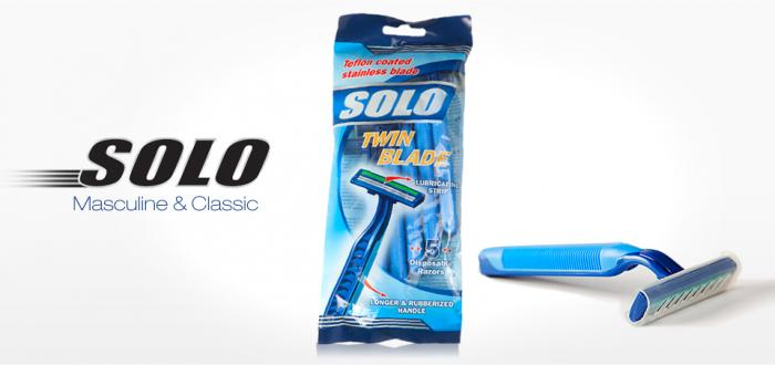 Solo Twin Blade Razor 5pcs/bag